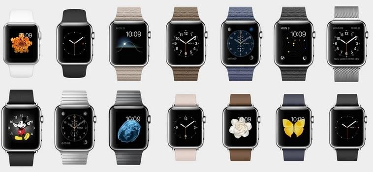 Os diversos modelos o Apple Watch. Créditos: Divulgação da marca