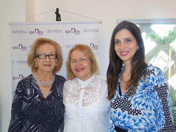 Blanca Pessoa de Melo, Dorinha Silva e Cecília Monteiro. Crédito: Divulgação