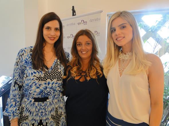 Cecília Monteiro, Rê Souza e Daniela Dias. Crédito: Divulgação