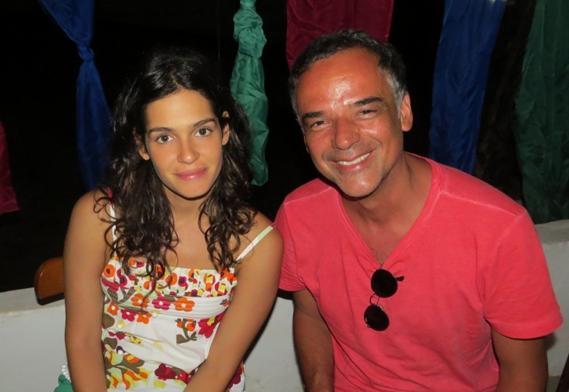 Maria Flor e Ângelo Antônio - Crédito: Ana Clara Marinho/Blog Viver Noronha