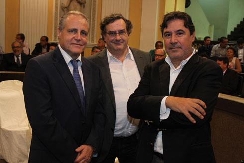 Angelo Maria Biccire, ( Cônsul da Italia), Barata Franco e Gerardo Bovone - Crédito: Nando Chiappetta/DP/D.A Press