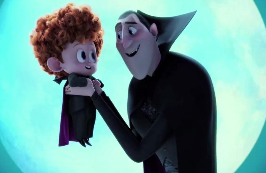 O Drácula com seu neto Dennis.  Créditos: Reprodução trailer