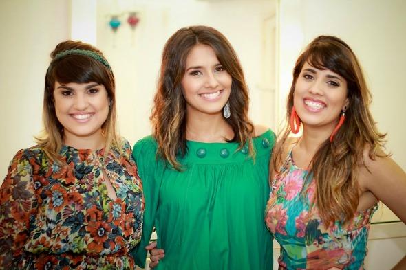 Júlia Madeiro, Ayla Martins e Fernanda Madeiro. Crédito: Divulgação
