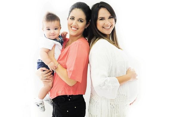 Lara Cavalcanti e Nina Lacerda assnam juntas o Até que Enfim Baby. Crédito: Widja Soares / Divulgação