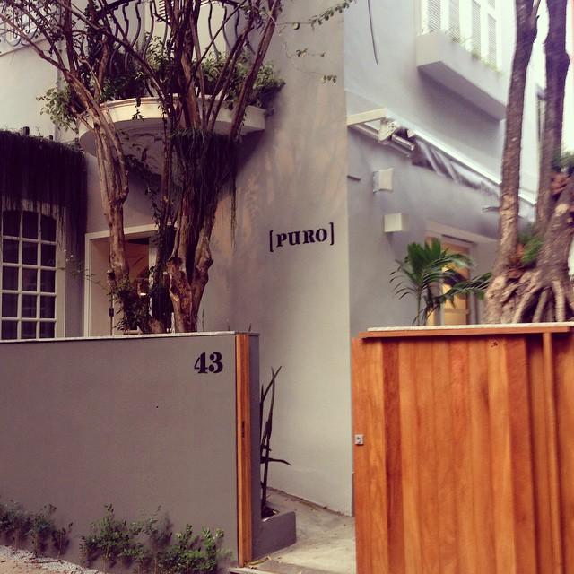 O restaurante Puro está localizado no bairro carioca do Jardim Botânico.  Crédito: Reprodução/Instagram