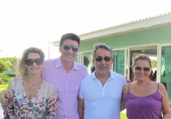 Sandra e José Janguiê Diniz, Gláucia e Guilherme Machado