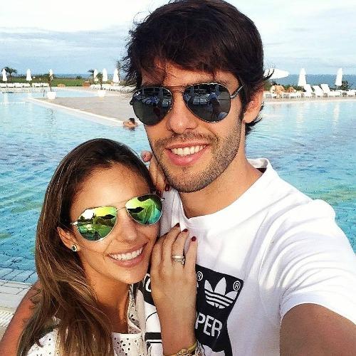 Kaká e a esposa Carol Celico. Crédito: Reprodução Facebook do atleta
