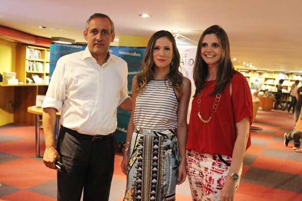 Rui Rego, Mariana Brennand Fortes e Paulina Sarubbi. Crédito: Nando Chiappetta/DP/D.A Press