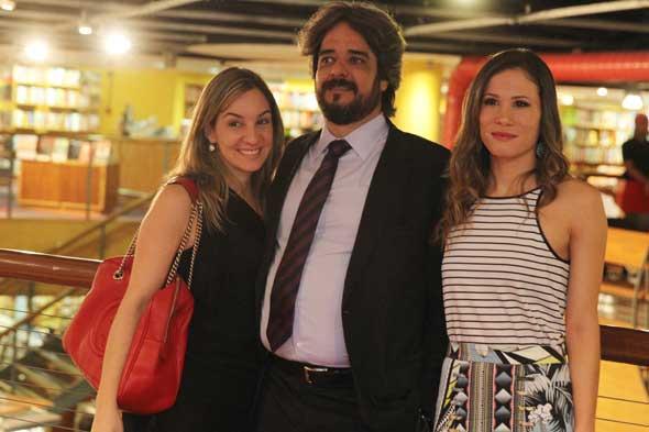Camila Brandão, João Vicente Neves Baptista e Mariana Brennand Fortes. Crédito: Nando Chiappetta/DP/D.A Press