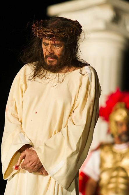 """Espetáculo teatral """"Paixao de Cristo do Recife"""", com José Pimentel - Crédito: Wellington Dantas/Divulgação"""