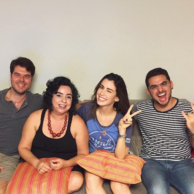 Diego Nunes, Mariza, Camila Coutinho e Caio. Crédito: Reprodução/Twitter