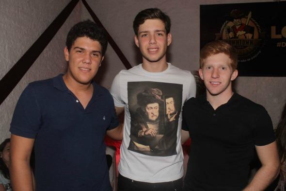 José Luiz, Victor Figlioulo e Michael Hennessey. Crédito: Vinícius Ramos
