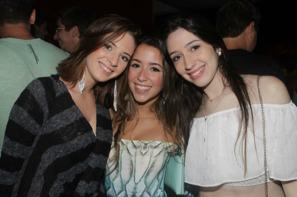 Mariana Gondim, Bianca Cassunde e Fernanda Antunes. Crédito: Vinícius Ramos