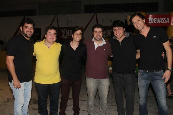 Os produtores Rodrigo e Renato Feitosa, Felipe Lucena, Roccini Fureti e Thiago e Rafael Figlioulo. Crédito: Vinícius Ramos