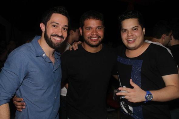 Marcelo Love, Carlos Dias e Gordo Show. Crédito: Vinícius Ramos