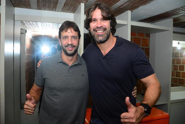 Antônio Figueira e André Gimk. Crédito: Gabriel Pontual