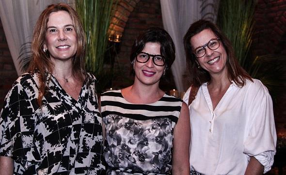 Andrea Pinteiro, Carla Bensoussan e Adriana Bandeira. Crédito: Rachel Melo