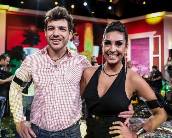 Cézar e Amanda, os finalistas do BBB 15. Crédito: Inácio Moraes/Gshow