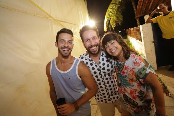 Zé Neto, Adriano Trajan e Luana Lima. Crédito: Celo Silva / Divulgação