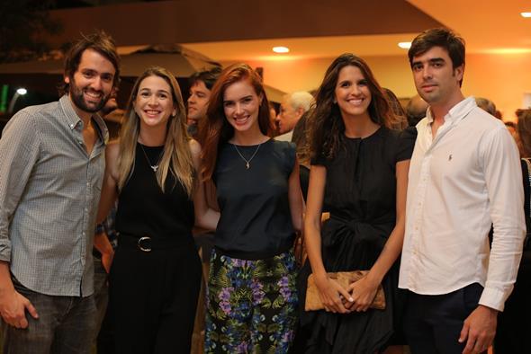 Jorge Peixoto, Eduarda Petribu, Dulce Gayoso, Priscila Brennand e David Fernandes. Crédito: Ricardo Nascimento