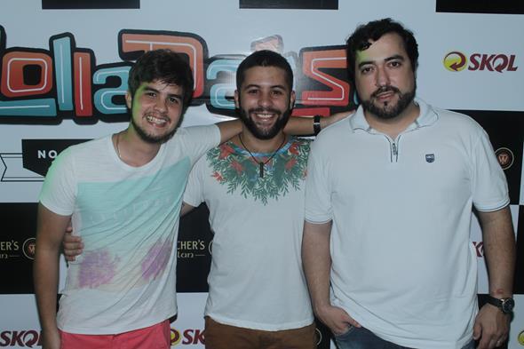 Caio Remigio, Guilherme Pitt e Paulinho BH Créditos:  Vinicius Ramos/Vagalume Comunicação.