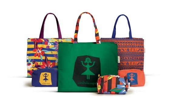As bolsas exclusivas criadas por Isabela Capeto. Créditos: Divulgação do Shopping Recife