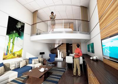 O luxo de uma suite loft