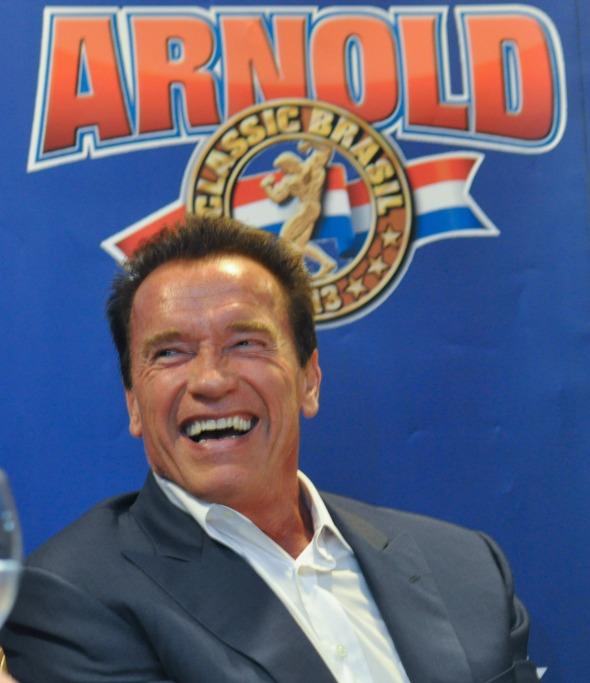 Arnold Schwarzenegger  vai conversar com Marcos Mion sobre temas como cinema, esporte e vida de atleta.  Créditos: Divulgação