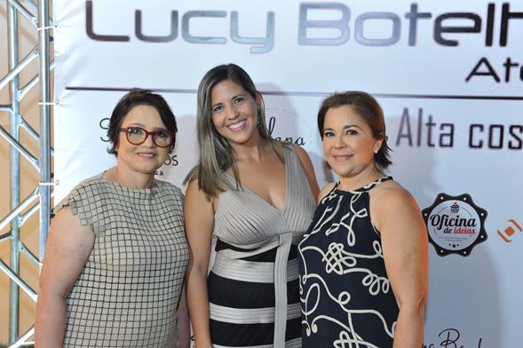 Lucy Botelho, Clarissa Cunha e Fátima Marinucci. Crédito: Lacerda Estúdio