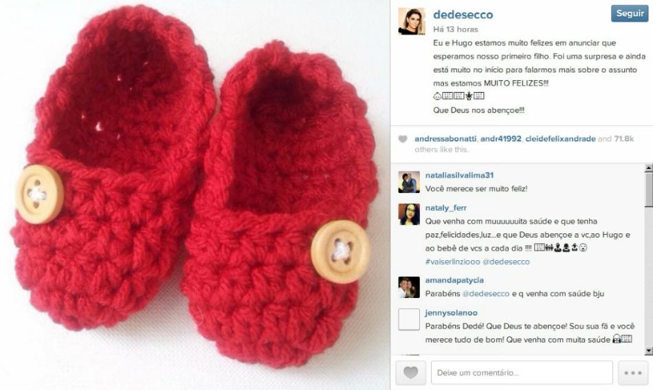 O anúncio foi feito através do Instagram da atriz. Crédito: Reprodução Instagram