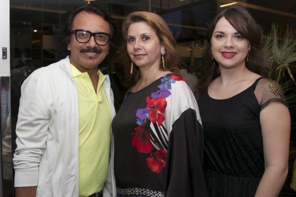 Augusto Werner, Valeria e Erica Araujo - Crédito: Tatiana Sotero/DP/D.A Press