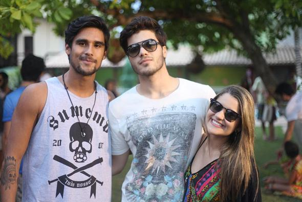 Lucas Bahamondes, Mateus Cavalcante e Mar Copy. Crédito: Vinicius Ramos / Divulgação
