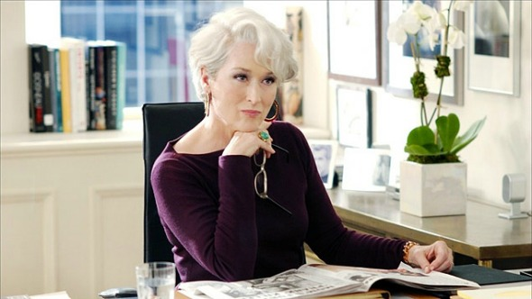 """Meryl Streep no papel de Miranda Priestly, no longa """"O Diabo Veste Prada"""". Crédito: Fox/Divulgação"""