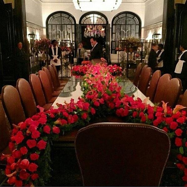 A mesa dos noivos. Crédito: Reprodução Instagram