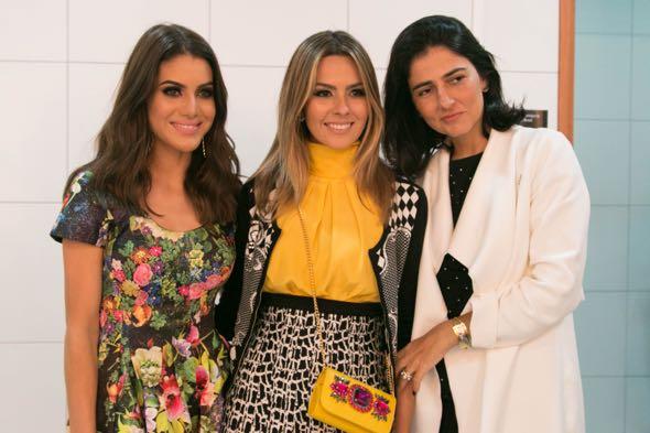 Camila Coelho, Rê Uchôa e Alice Ferraz - Crédito: Tatiana Sotero/DP/D.A Press