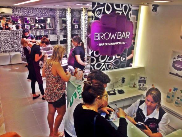 A nova unidade da BrowBar, no Espinheiro. Crédito: Divulgação/BrowBar
