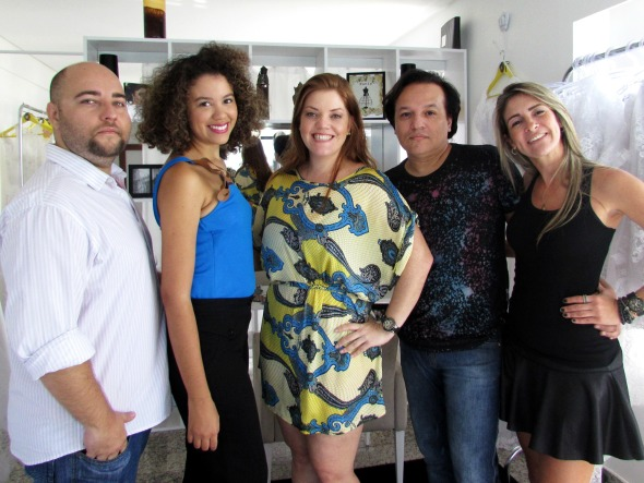 Henrique Arteiro, Juliana Nascimento, Bruna Roque, Sandro Santos e Roberta Martins. Crédito: Vanessa Lins