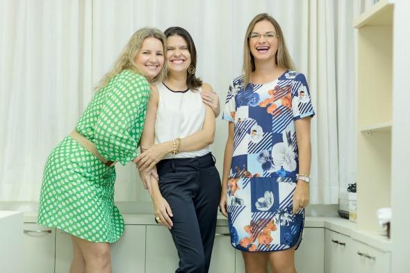 Cyntya Verçosa, Daniella Cantarelli e Priscila Borba. Créditos: Antônio Félix