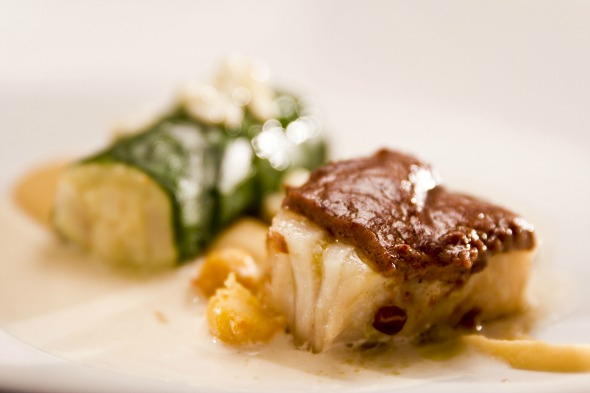Bacalhau com purê de grão de bico - Crédito: Restaurante Rui Paula/Divulgacao