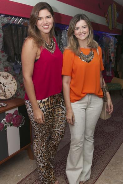 Marina Paraíso e Alynne Borba. Crédito: Tatiana Sotero / DP / D.A Press