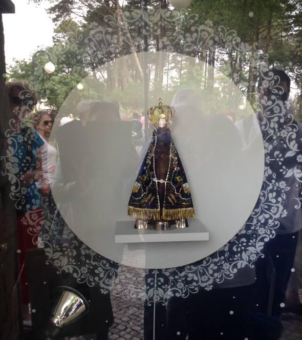 A imagem de Nossa Senhora Aparecida em Fátima