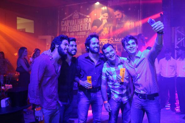 José Pinteiro, Rafael Lobo, Jorge Peixoto, Geraldo Bandeira e Victor Carvalheira. Crédito: Sérgio Quintas/Divulgação