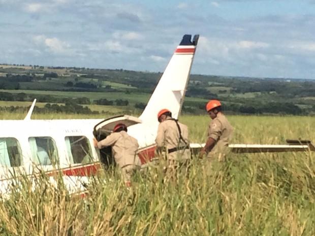 Foto tirada durante o resgate dos envolvidos. Créditos: Corpo de Bombeiros/ Divulgação