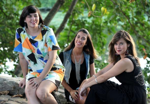 Mariana Almeida, Rafaela Lucena e Isabela Villaça armam mais uma edição do La Buena Mercado Itinerante Créditos: Divulgação do evento