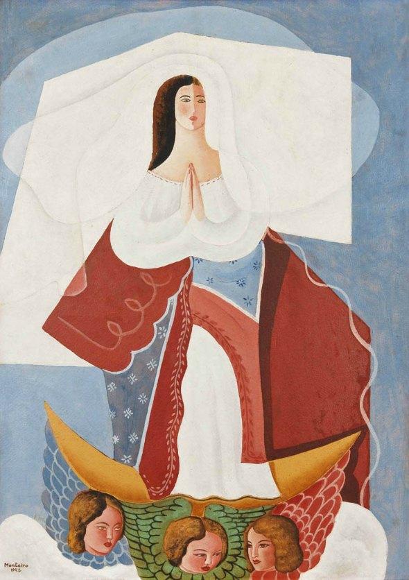 Nossa Senhora pintada por Vicente do Rego Monteiro Créditos: Divulgação