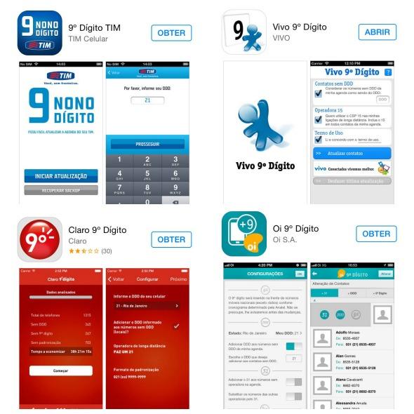 As principais operadoras estão oferecendo aplicativos para facilitar na hora de adicionar o dígito Créditos: reprodução