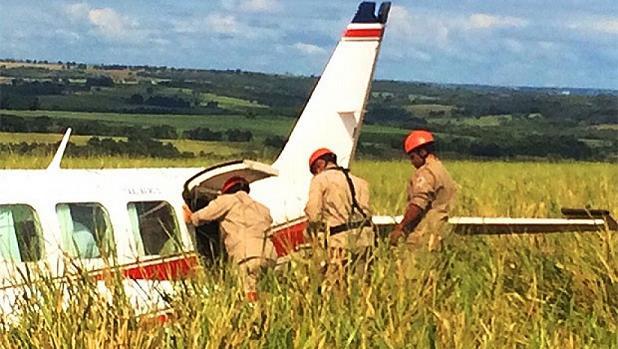 Avião que levava Angélica, Luciano Huck, seus filhos e duas babás - Crédito: Divulgação/Bombeiros/MS