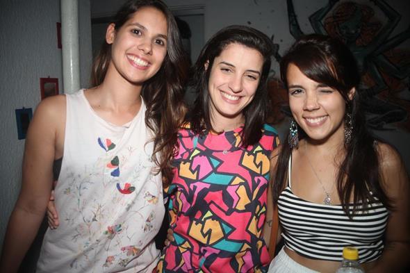 Mima Galvão, Júlia Pontual e Júlia Peckly. Crédito: Vinicius Ramos