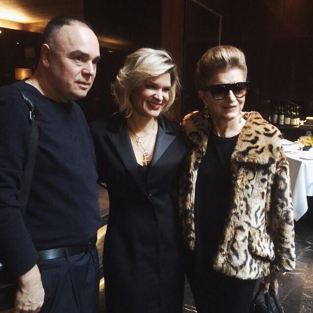 Paulo Borges, Juliana Santos e Costanza Pascolato em almoço no Fasano - Crédito: Reprodução do Instagram