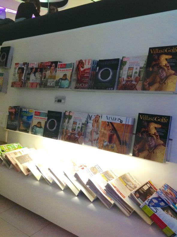 A grande oferta de revistas e jornais